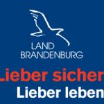"""Logo der Verkehrskampagne """"Lieber sicher. Lieber Leben."""" des Landes Brandenburg"""